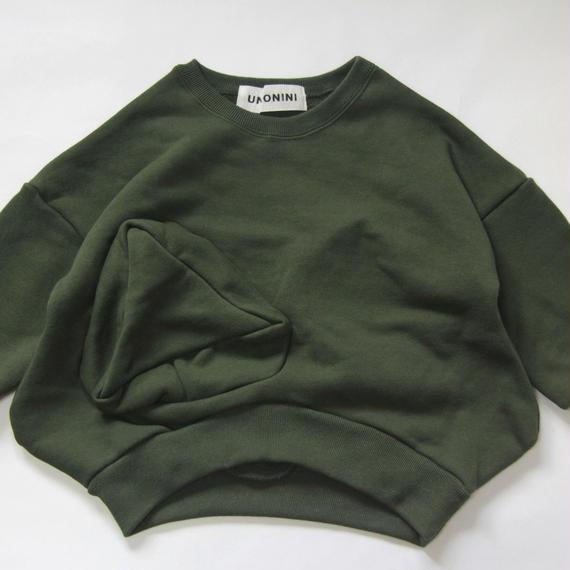 【 UNIONINI 2018AW 】 TR-020 ◯△sweat shirt  / green / 10-12Y