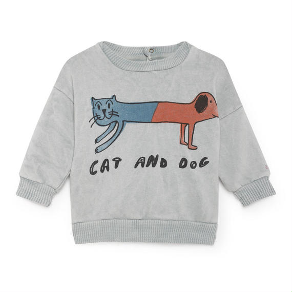 【 Bobo Choses 2018AW 】218185 Cat And Dog Round Neck Sweatshirt