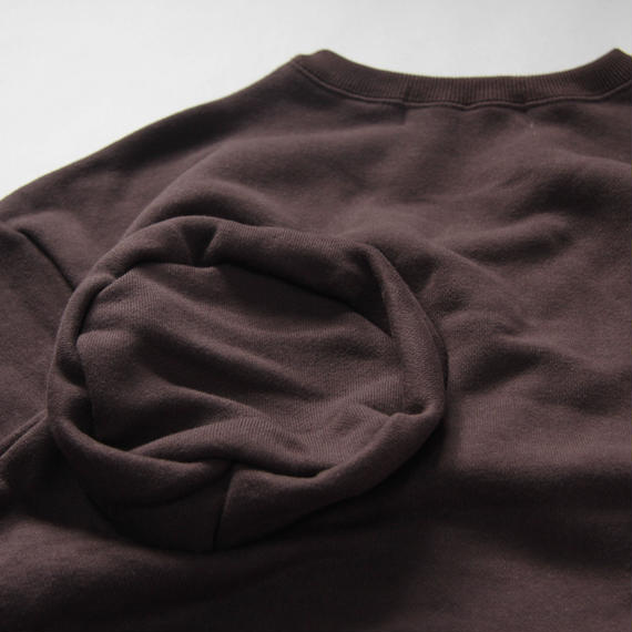 【 UNIONINI 2018AW 】 TR-020 ◯△sweat shirt / brown