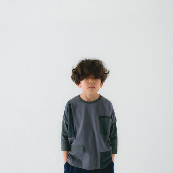 【 nunu forme 2018AW 】10-949-500 ポケットT / Charcoal