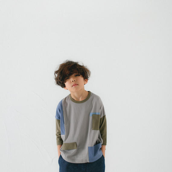 【 nunu forme 2018AW 】10-949-500 ポケットT / Gray
