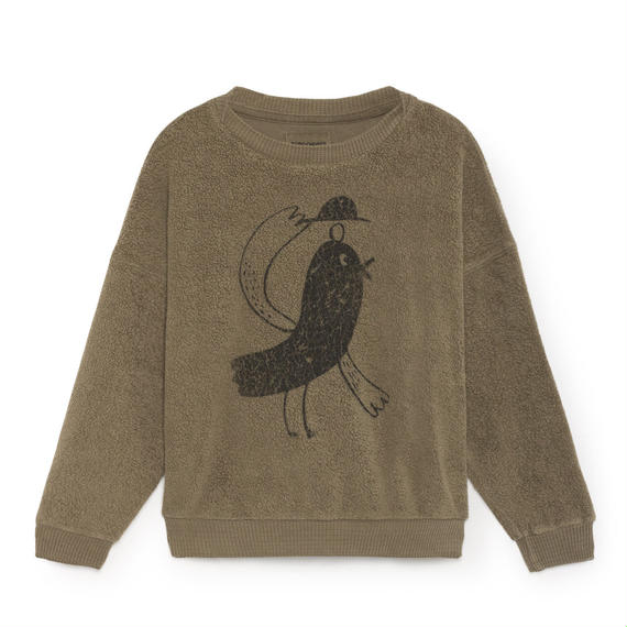 【 Bobo Choses 2018AW 】218034 Bird Round Neck Sweatshirt