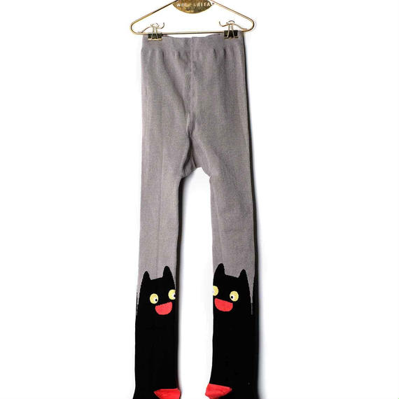 【 WOLF&RITA 2018AW 】 KIDS TIGHTS / BLACK CAT