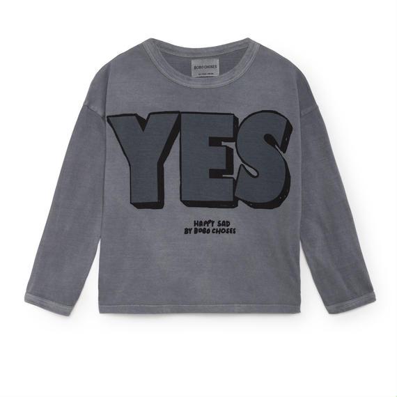 【 Bobo Choses 2018AW 】218006 Yes No Round Neck T-Shirt