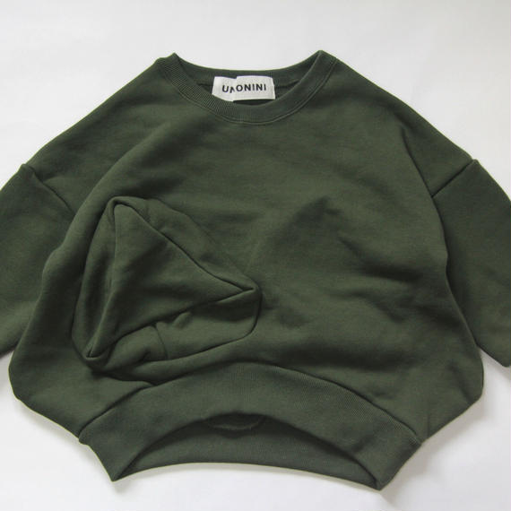 【 UNIONINI 2018AW 】 TR-020 ◯△sweat shirt / green