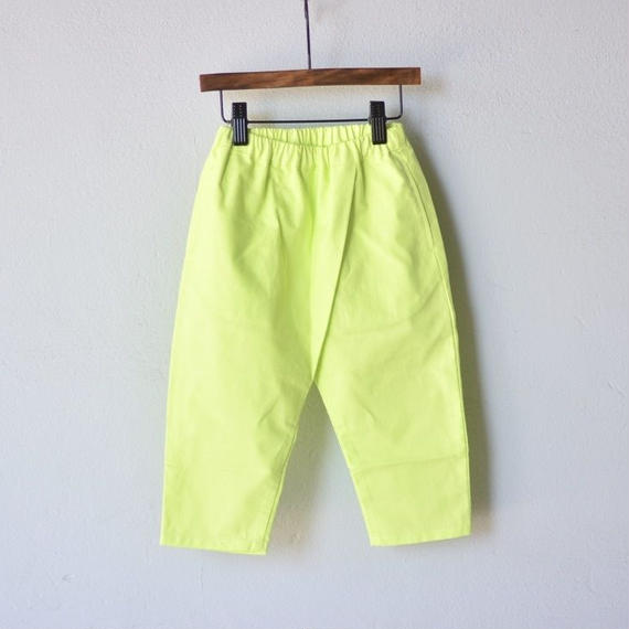 【 WONDER FULL LIFE 2018AW 】 PANTS / lime / size L (130-140)