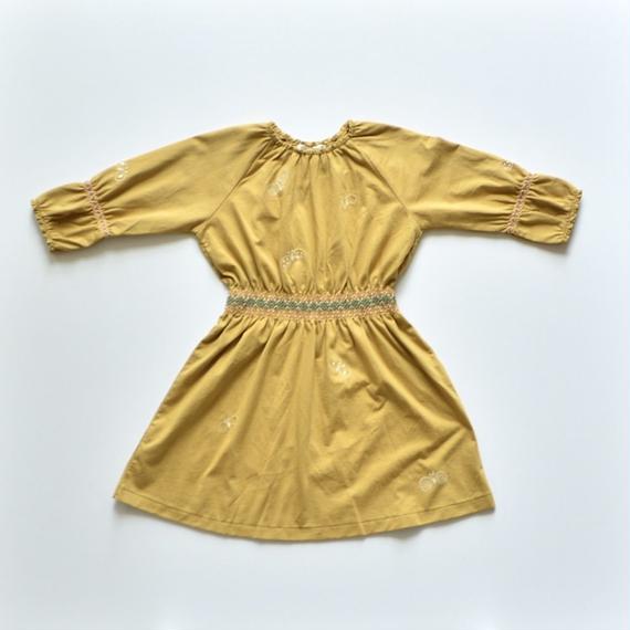"""【 ミナペルホネン 18AW 】WA8928P choucho """"ワンピース"""" / mustard / 90,100cm"""