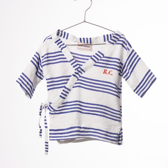 【BOBO CHOSES 2017SS】117228 Baby Kimono Shirt B.C. TEAM / 3-6ヶ月