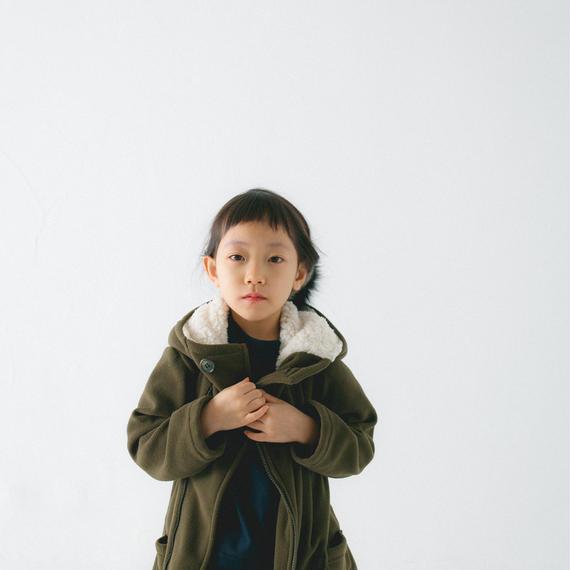 【 nunu forme 2018AW 】10-835-556 フリースコート / Khaki
