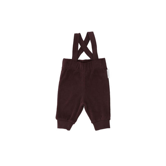【 tiny cottons 2018AW 】 AW18-098 solid towel braces pant / plum