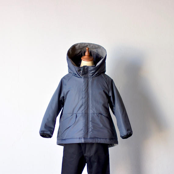 【 MOUN TEN. 2018AW 】172MT040 / ライトインサレーションコート / charcoal / 125,140cm