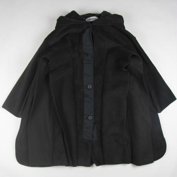 【 UNIONINI 2018AW 】 CO-012 long fleece coat (10y〜) / black