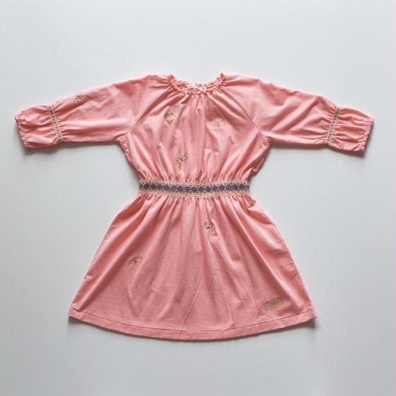 """【 ミナペルホネン 18AW 】WA8928P choucho """"ワンピース"""" / pink / 90,100cm"""