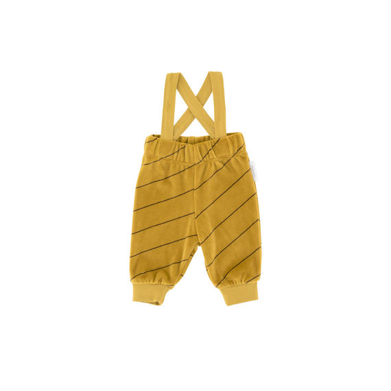 【 tiny cottons 2018AW 】 AW18-104 diagonal stripes plush braces pant / mustard/plum