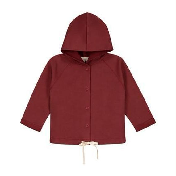 【 Gray Label 2017AW】 Baby Hooded Cardigan / Burgundy / 80cm
