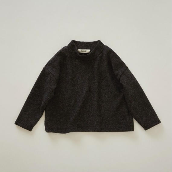 【予約商品】【 eLfinFolk 2018AW 】elf-182J28 melange highneck tops / black / 110-130cm