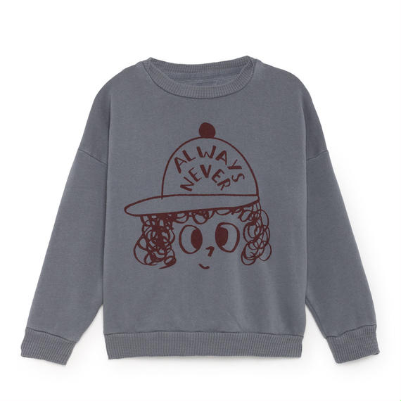 【 Bobo Choses 2018AW 】218032 Always Never Round Neck Sweatshirt