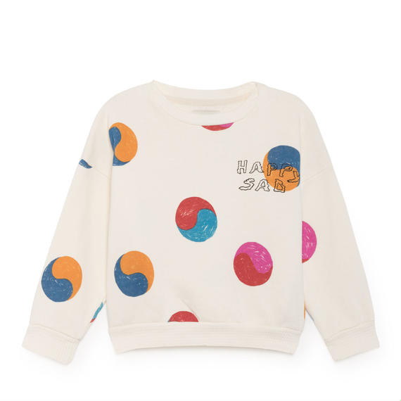 【 Bobo Choses 2018AW 】218027 Yin Yang Round Neck Sweatshirt