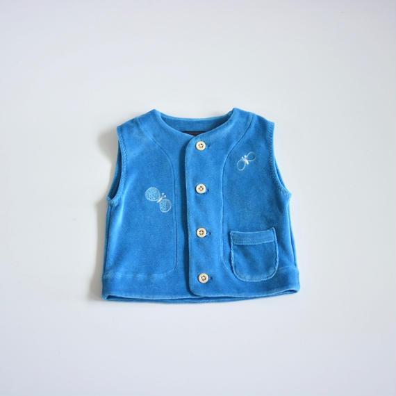 """【 ミナペルホネン 18AW 】WA8937P choucho """"ベスト"""" / blue / 80cm"""