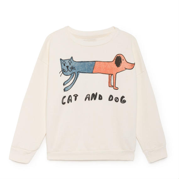 【 Bobo Choses 2018AW 】218026 Cat and Dog Round Neck Sweatshirt