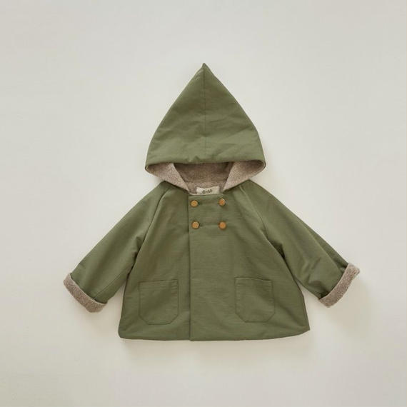 【予約商品】【 eLfinFolk 2018AW 】el-182F18 elf coat / sage green / 110-130cm