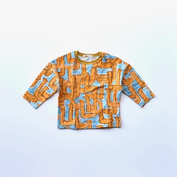 """【 ミナペルホネン 18AW 】WA8915P assemblage """"ロングスリーブTee"""" / mustard / 80-100cm"""