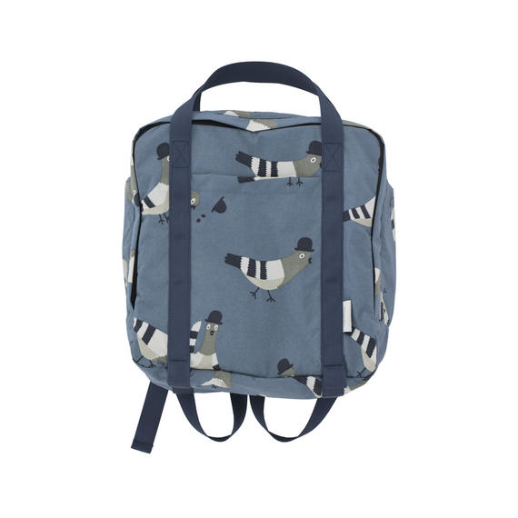 【 tiny cottons 2018AW 】 AW18-251 pigeons backpack / light navy/light grey
