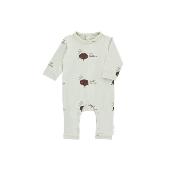 【 tiny cottons 2018AW 】 AW18-010 shy beetroot ls one-piece / pistacho/plum / 6-12m