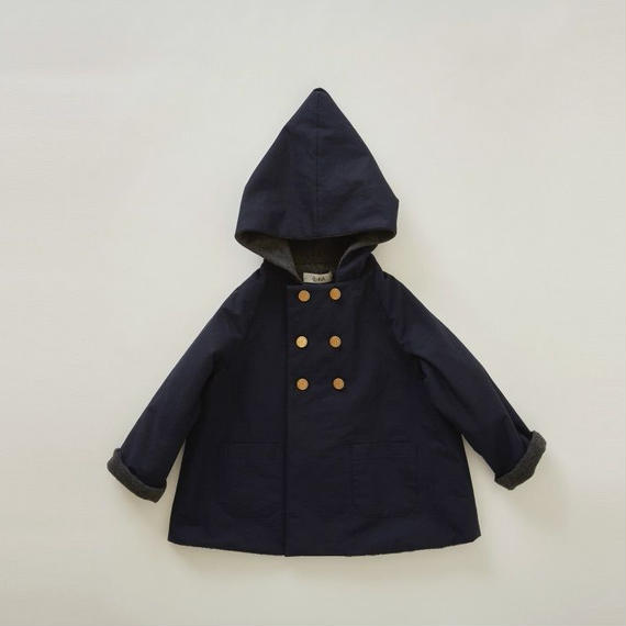【予約商品】【 eLfinFolk 2018AW 】el-182F17 elf coat / navy / 90,100cm