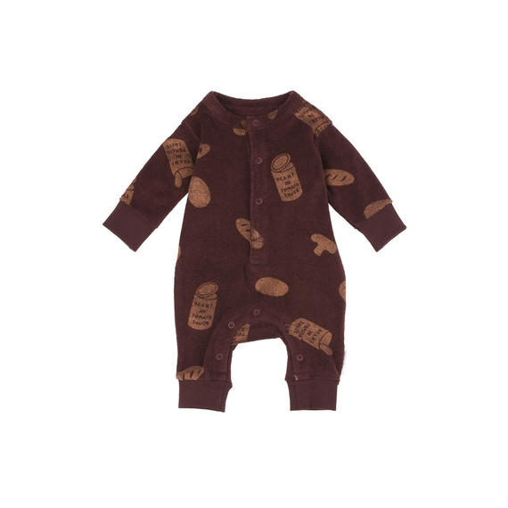 【 tiny cottons 2018AW 】 AW18-094 groceries towel one-piece / plum/terracotta / 6-12m