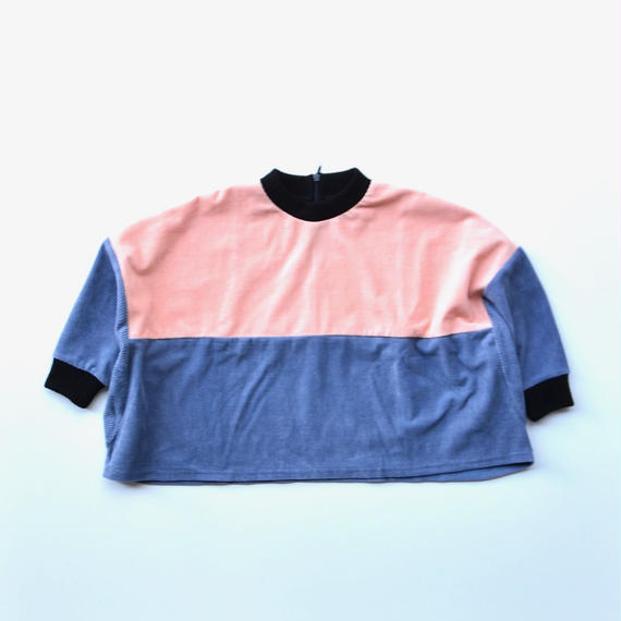 【 franky grow 2018AW 】CS-286 2TONE WOODY CORDUROY TP / PINK -GY / size LL(9-11歳)