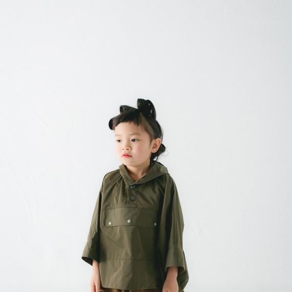 【 nunu forme 2018AW 】10-104-054 ワイドアノラック / Khaki