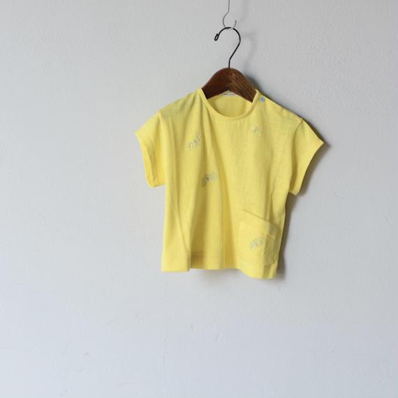 """【 ミナペルホネン 18SS 】 """"choucho """" Tシャツ / yellow  / 110〜130cm   (WS8852P)"""