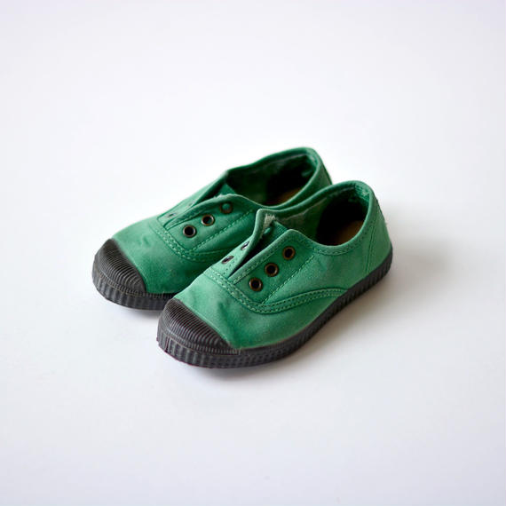 【 Cienta 2018AW 】デッキシューズ 955777 / green / dyed / 13~21cm