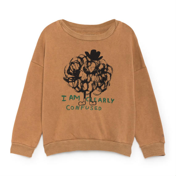 【 Bobo Choses 2018AW 】218033 Clearly Confused Round Neck Sweatshirt
