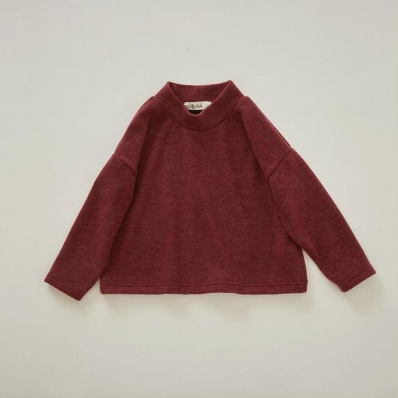 【予約商品】【 eLfinFolk 2018AW 】elf-182J29 melange highneck tops / burgundy / 140-150cm