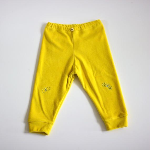 """【 ミナペルホネン 18AW 】WA8939P choucho """"パンツ"""" / yellow / 80-100cm"""