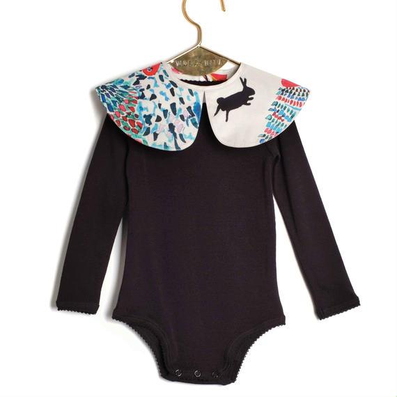 【 WOLF&RITA BABY 2018AW 】 AURORA - Bodysuit LS / MASQUERADE x BLK / 6-12m