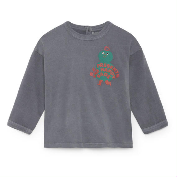 【 Bobo Choses 2018AW 】218165 Mr Green Round Neck T-Shirt