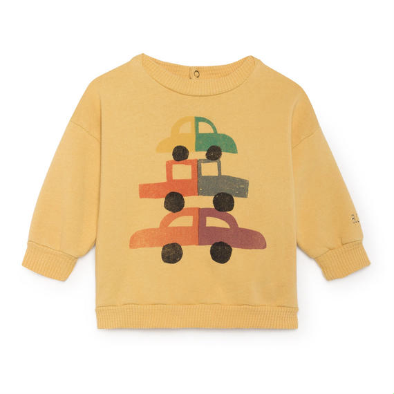 【 Bobo Choses 2018AW 】218186 Cars Round Neck Sweatshirt