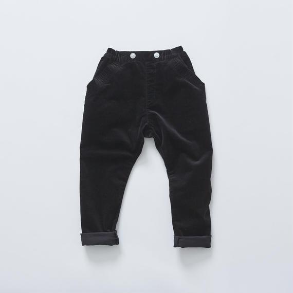 【cokitica 2017AW】cka-172F16sarrouel corduroy pants / black / 90-100cm