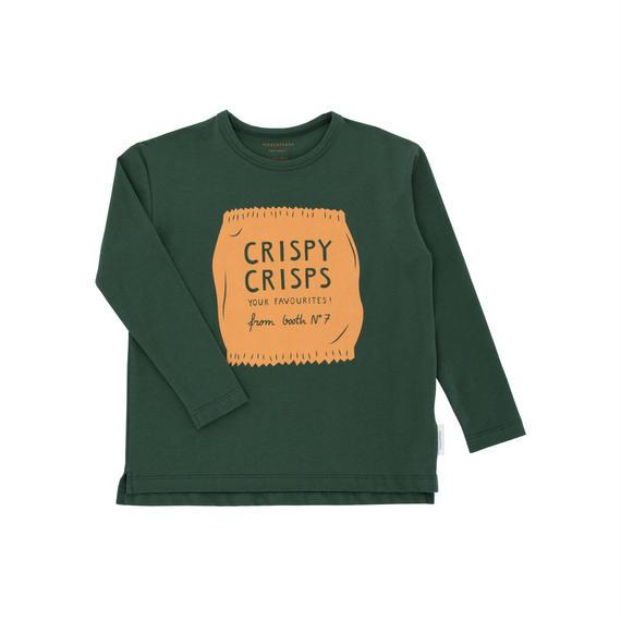 【 tiny cottons 2018AW 】 AW18-051 crispy crisps graphic tee / dark green/dark nude