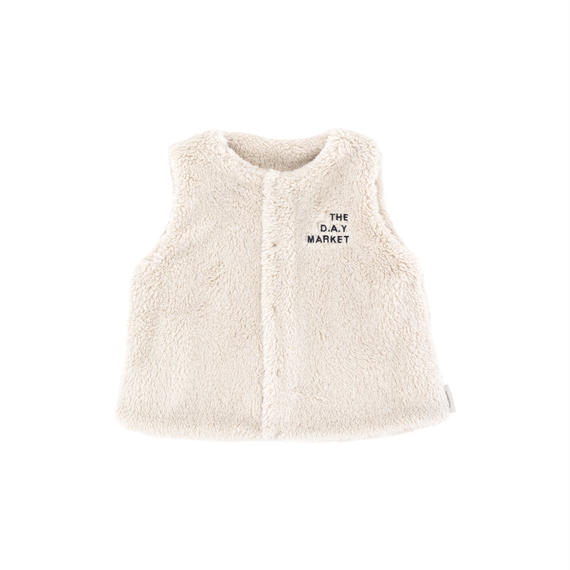 【 tiny cottons 2018AW 】 AW18-105 fluffy vest / beige