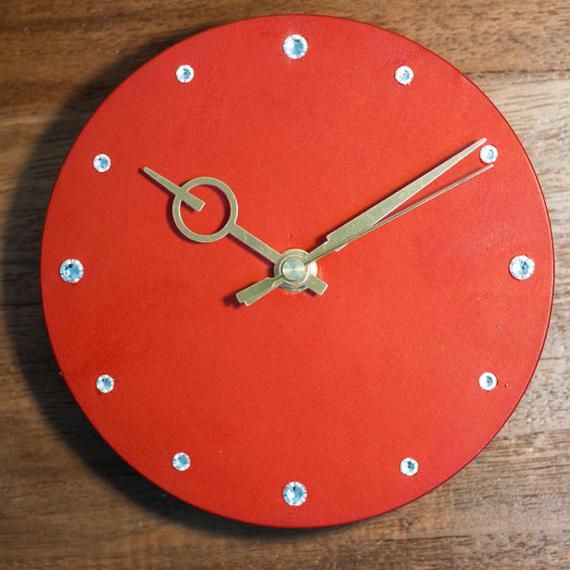 まるい革の時計(S)