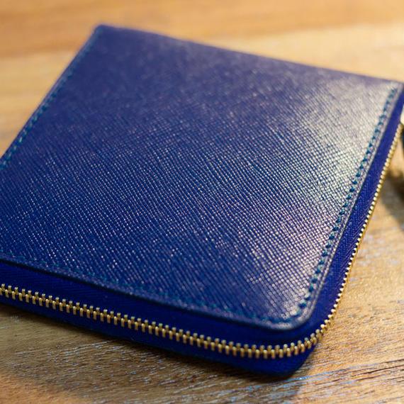 ファスナー2つ折り財布 ロイヤルブルー