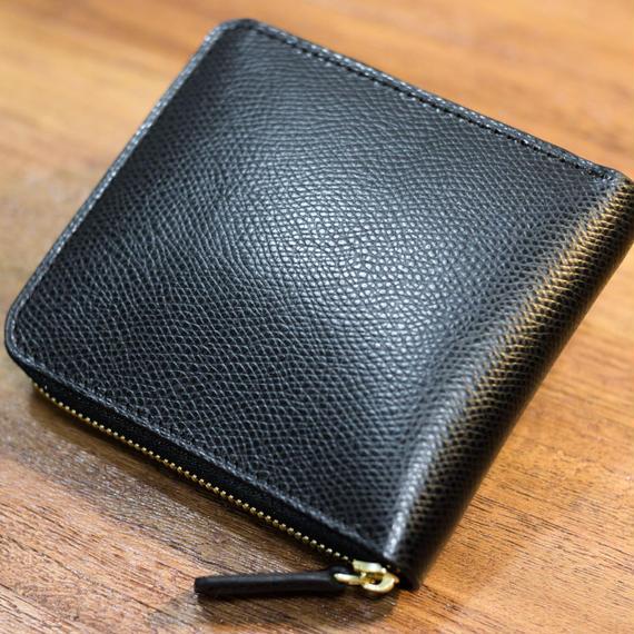ファスナー2つ折り財布 クシュベル・ブラック