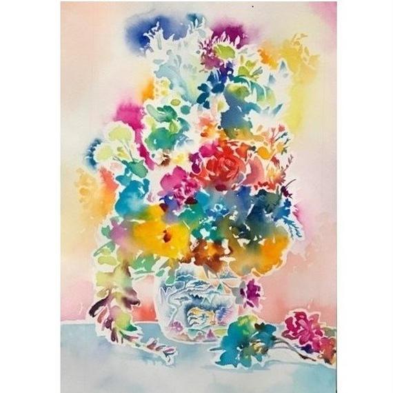 花のある景色  立川陽介  2017年