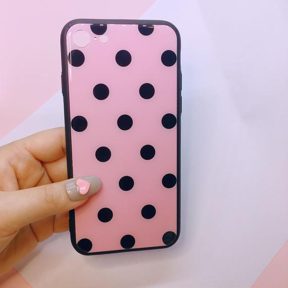 ブラックピンクドットiPhone7/8/Xケース