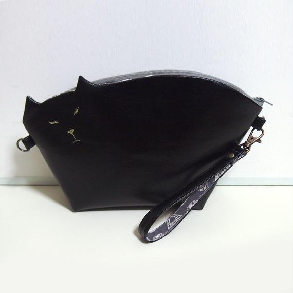 猫のクラッチポシェット2way005号(受注生産)【送料無料】