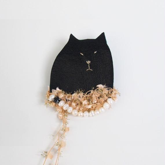 おめかし猫の貴婦人ブローチ001号(受注生産)【送料無料】
